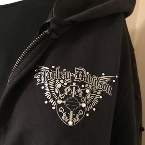 Harley Davidson Hoodie Jacket Black Sz 2X 20 - 22